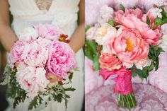 Colorful-Pink-Coral-Peony-WEdding-Bouquets