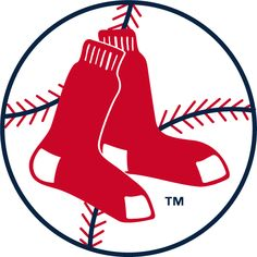 Boston Red Sox Primary Logo (1970) - A pair of red socks on a baseball in a circle