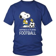 Happiness Is Playing Football Snoopy Shirts
