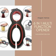 6 IN 1 MULTI FUNCTION OPENER ⭐️Durable and not easy to wear ⭐️The bottom of the opener has a blade that can easily cut through the plastic bag. ⭐️Exquisite craftsmanship, outstanding texture Blade, Household, Plastic, Texture, Make It Yourself, Random, Easy, Surface Finish, Llamas