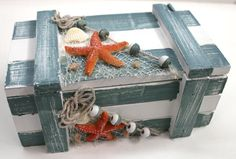 Nautical Box with Fish Net, $11.99 (http://www.caseashells.com/nautical-box-with-fish-net/)