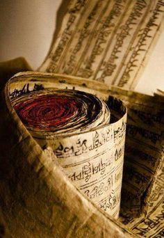 Tibet: old mantra rolls. Buddha Buddhism, Tibetan Buddhism, Buddhist Art, Tibetan Mantra, Tibetan Art, Nepal, Sanskrit, Serenity, Tibet