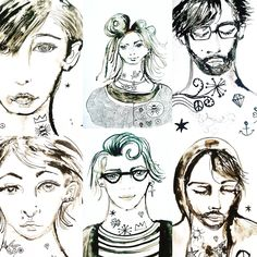 Inked portraits Band of Outsiders by Lizzie Reakes