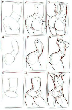 Hüfte zeichnen Three Steps to Beautiful Hips by OliverBarraza on deviantART Drawing Lessons, Drawing Poses, Drawing Techniques, Drawing Sketches, Drawings, Sketching, Drawing Tips, Figure Drawing Reference, Anatomy Reference