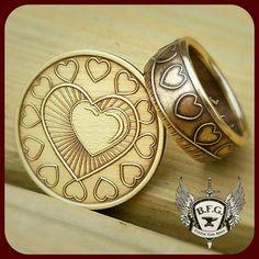 Mi corazón está en recuperación, moneda de bronce de sobriedad AA anillo