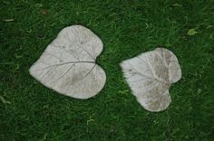 Leave shaped stepping stones