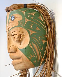 Weeping Frog Mother Mask by Gerry Sheena, Salish artist (W70714)