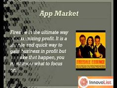 """Are you looking to milk maximum profits by doing simple promotion of your products and services? You can easily generate cash money like crazy with this app """"Firesale Essence"""" which is hottest online techniques of producing massive profits today. http://innateapps.com/FiresaleEssence.php"""