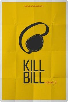 Affiches minimalistes de films cultes - Kill Bill