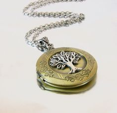 Gold Locket Tree of Life Celtic Lockets Gold and Silver Celtic Locket Necklace for Girlfriend, Sister, Daughter Graduation Gift on Etsy, $32.00