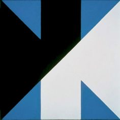 Frederick Hammersley, Cross reference, oil on linen, 45 x 45 inches