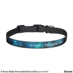 A Starry Night Personalized Dog Collar
