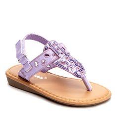 Loving this Purple Sequin Sandal on #zulily! #zulilyfinds