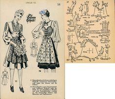 1940s (1941) German Women's Dirndl Lutterloh 1941A-51