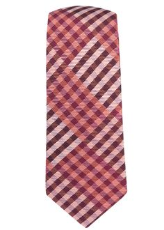 E CHECK TIES - RASPBERRY | Ties, Bow Ties, and Pocket Squares | The Tie Bar