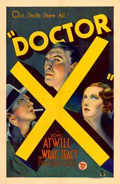 Doctor X (1932, Michael Curtiz) #Movieposter