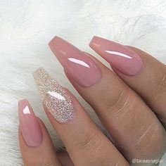 elegant purple glitter coffin nails inspirations +tips – page 25 – chic Cute Acrylic Nails, Acrylic Nail Designs, Nail Art Designs, Acrylic Nails For Summer Coffin, Classy Nails, Trendy Nails, Stylish Nails, Pink Nails, My Nails