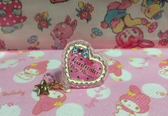 Twinkle Accessory Ring (Pink Heart) from SWIMMER - Lolita Desu