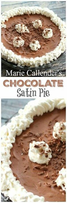 This Marie Callender's Chocolate Satin Pie Copycat recipe is spot on! The pie is rich and creamy, just like the Chocolate Satin Pie at the restaurant. via @favfamilyrecipz