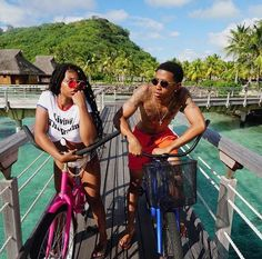 Casual day, just casually chilling in Bora Bora 🌴 Young Black Couples, Black Couples Goals, Cute Couples Goals, Couple Goals Relationships, Relationship Goals Pictures, Couple Relationship, Bora Bora, De'arra And Ken, Dearra Taylor