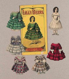 "Paper Dolls, 1790-1940 - The Collection of Shirley Fischer: 74 American Paper doll ""Ella Hall"" by McLoughlin"