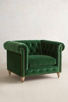 Velvet Lyre Chesterfield Armchair, Wilcox - anthropologie.com Love this but need to find a cheaper version