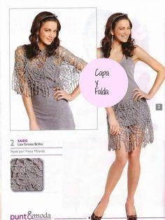 Capa y Falda Crochet. 2 en 1 - Patrones Crochet