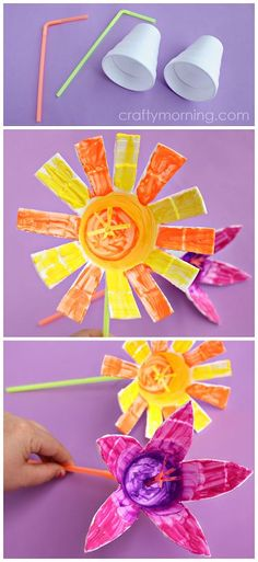 Styrofoam Cup Flowers (Kids craft idea for spring or summer!) | CraftyMorning.com