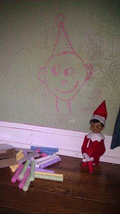 wall art, chalkboards, shelf idea, self portraits, shelves, elf on shelf, chalk drawings, shelf chalk, christma
