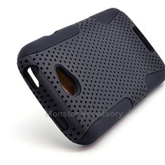 Click Image to Browse: $8.95 Black APEX Hybrid Case Hard Gel Cover For HTC One S
