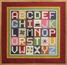 Mini Alphabet Quilt photo - Moda's Spell It with Fabric contest