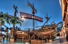 Buccaneer Pirate Ship Raymond James Stadium, Local Attractions, Sailing Ships, Ferris Wheel, Big Ben, Fair Grounds, Boat, Building, Photography