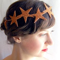 Items similar to Giant Dwarf // Starlette Crown // Copper on Etsy Diy Carnaval, Costume Carnaval, Sea Costume, How To Wear Headbands, Jewelry Accessories, Fashion Accessories, Bling, Super Hair, Kat Von