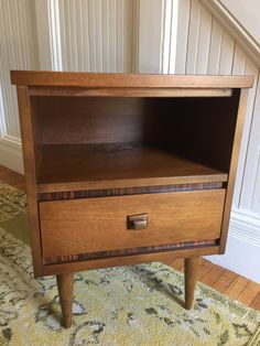 SHIPPING IS NOT FREE!!! Please read info below!  Midcentury Danish Modern nightstand, c1960s, in excellent vintage condition, perfect for