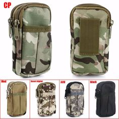 2016 New Mini Outdoor Waterproof Military Tactical Camping Hanging Waist Bag Pouch Camouflage Bag