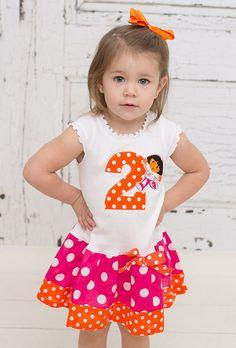 Number Dora Birthday  Dress. Available in 03 by BabyThreadsByLiz, $26.00