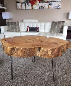 stump coffee table with hairpin legs large live edge coffee table tree trunk coffee table