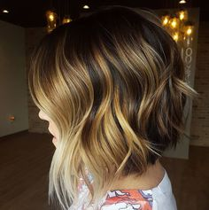 love this cut and color! ~ short inverted choppy bob