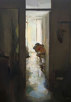 Interior #134. Oil on wood,  60 x 42 cm. Available on Saatchi Art