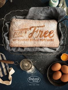 The print ads for this North Carolina–based bakery proclaim the important fact that bread is always delicious. Bread Art, Raw Cake, Best Ads, Communication Art, Fresh Bread, Print Ads, Food Design, Food Print, Food Photography