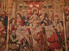The Last Supper, late century tapestry, Vatican Museum Sistine Chapel, Last Supper, Vatican City, 15th Century, Medieval, Tapestry, Instagram Posts, Textiles, Painting