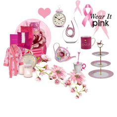 """""""Wear It Pink! Breast Cancer Awareness 2013"""" by amarahome on Polyvore"""