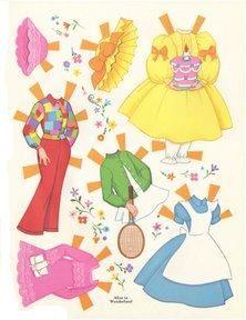 Bonecas de Papel:  Alice in Wonderland-clothes