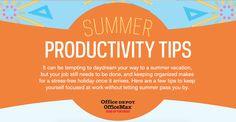 6 consigli per restare #produttivi anche durante l' #estate. L' #infografica è stata realizzata da #officedepot e chiude per questa stagione #lunedinfografica   #infographic #summer #productiviy #radiosmu