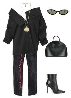 """""""Untitled #142"""" by bxlenciaga ❤ liked on Polyvore featuring Johanna Ortiz, Givenchy, Calvin Klein 205W39NYC, Alexander Wang and Moschino"""