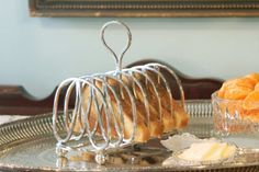 Antique English Silver Plate Toast Rack - Victorian 6 Slice Toast Rack - Thomas Henry Blake - Sheffield England