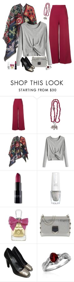 """""""Flared Pants"""" by dgia ❤ liked on Polyvore featuring Roland Mouret, Alexander McQueen, Juicy Couture, Jimmy Choo, Prada and Jewelonfire"""