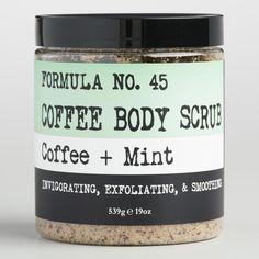 Coffee and Mint Body Scrub by World Market #ExfoliatingBodyScrub Coffee Scrub, Moisturizer With Spf, Good Skin, Skin Care Tips, Healthy Skin, Body Care, Natural Remedies, The Balm, Homemade