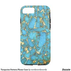 Turquoise Pattern Phone Case