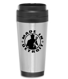 Made in Detroit Stainless Steel Travel Mug